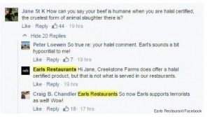 earls facebook post terrorism